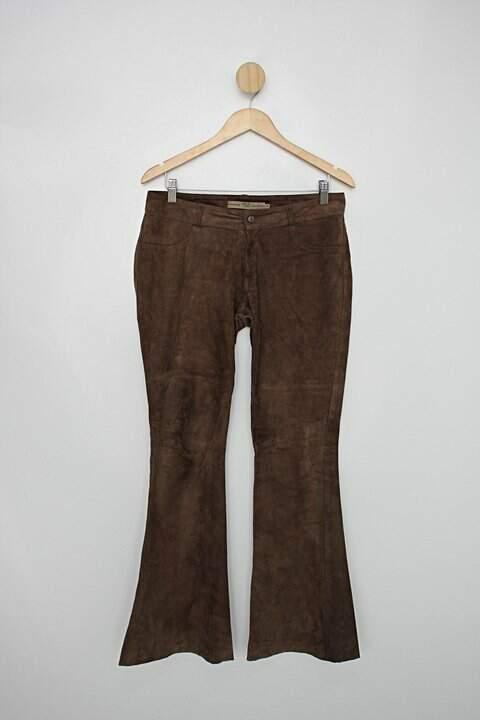 Calça de couro rya couros feminina marrom_foto principal
