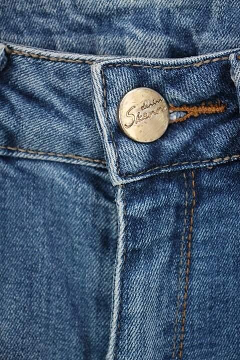Calça Jeans flare skenn feminina azul_foto de detalhe
