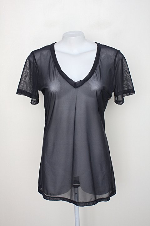 Blusa miele feminina cinza escura de tule_foto principal