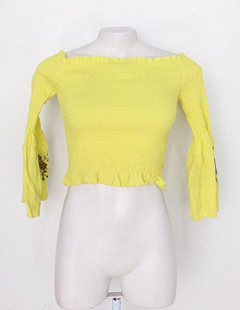 Blusa Ciganinha amarelo esverdeado forever 21 _foto principal