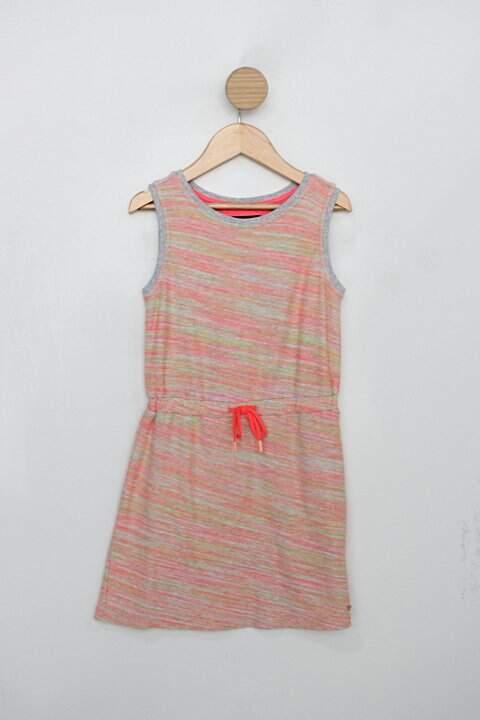 Vestido de moletinho Infantil tommy hilfiger estampado neon_foto principal