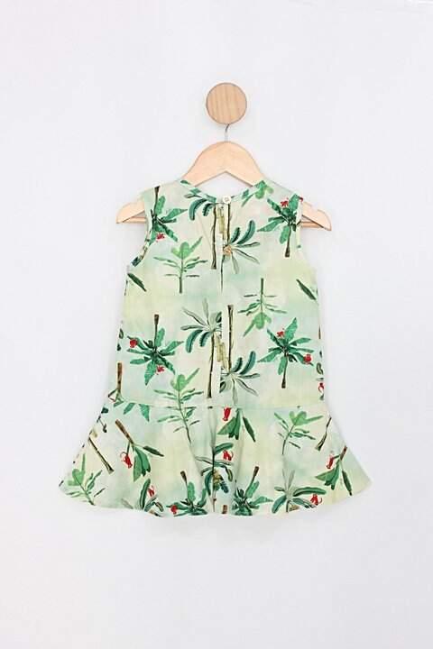 Vestido Infantil daducha verde_foto de costas