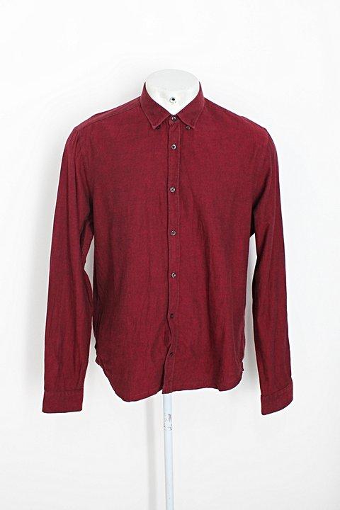 Camisa zara masculina vermelho mescla_foto principal