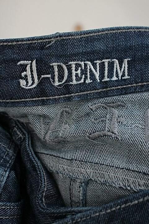 Calça jeans j denim masculino azul_foto de detalhe