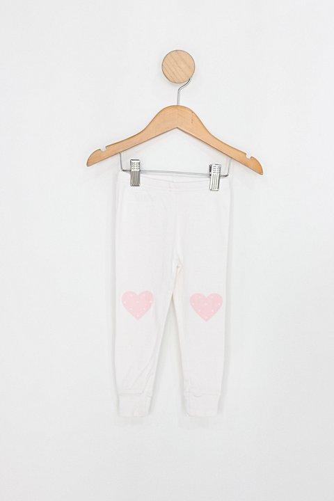 Calça Infantil carter´s branco coração_foto principal