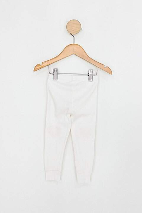 Calça Infantil carter´s branco coração_foto de costas