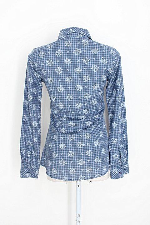 Camisa marisa feminina mix de estampas_foto de costas