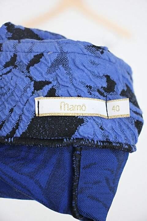 Saia mamô feminino azul estampado_foto de detalhe