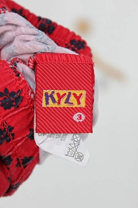 Shorts-saia Infantil kyly vermelho_foto de detalhe