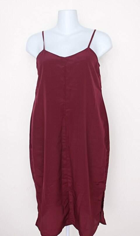 Vestido longo feminino vinho _foto principal