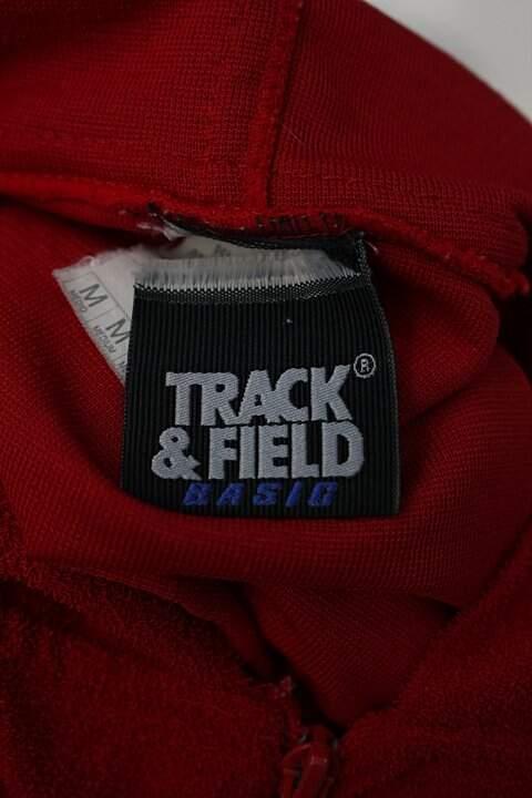 Jaqueta Esportiva vermelha Track & Field _foto de detalhe