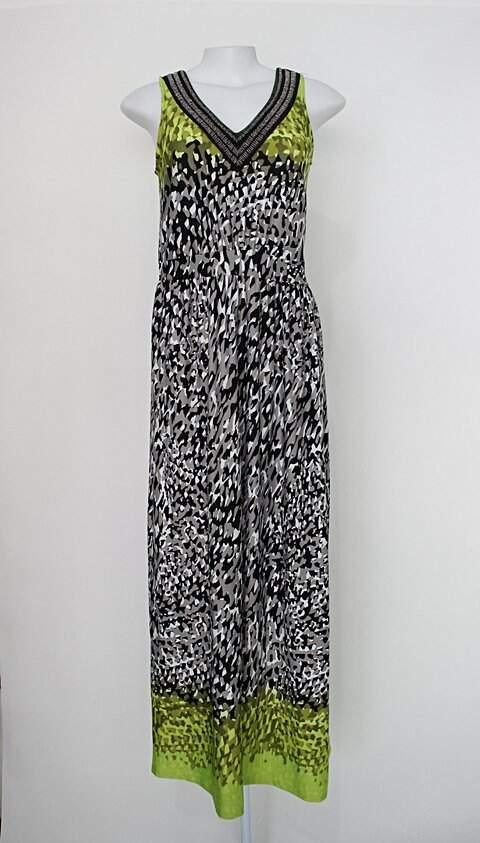 Vestido lanny collection feminino estampado com Bordado_foto principal