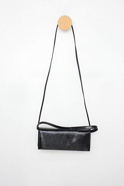 Bolsa carteira feminina preta_foto de costas