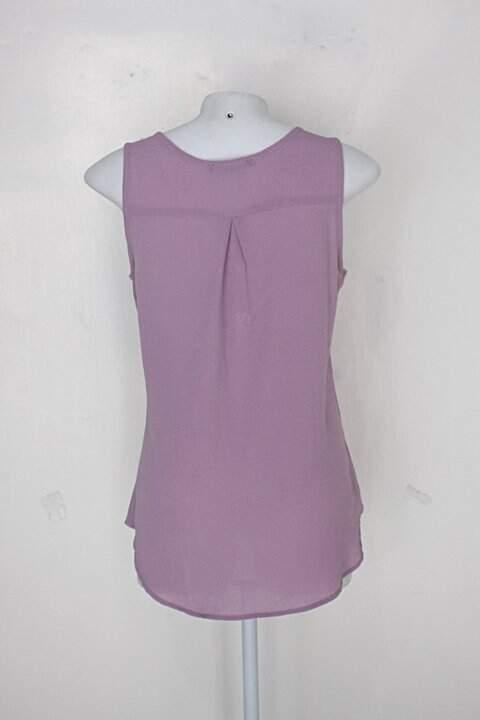 Blusa haute monde feminina roxa_foto de costas