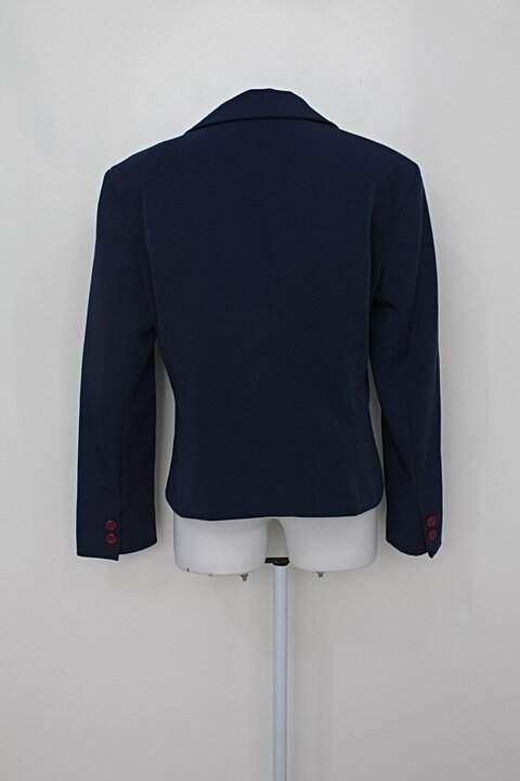 Blazer simulassão feminino azul com forro_foto de costas