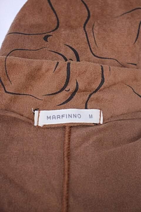 Saia camurça renner feminina marrom com Faixa na Cintura estampada _foto de detalhe