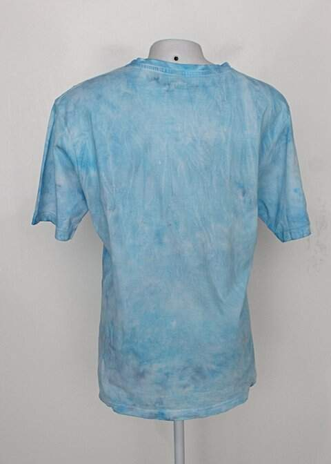 Camiseta tie dye azul manga curta_foto de costas