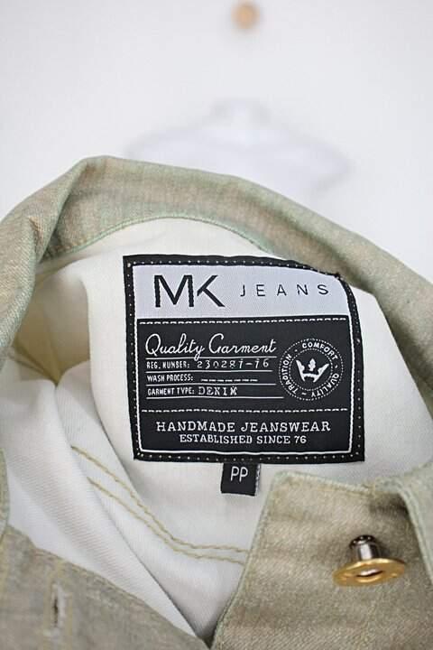 Jaqueta jeans manga 3/4 mk jeans feminina dourado_foto de detalhe