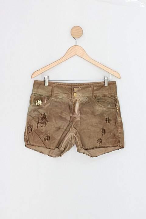 Shorts de sarja morena rosa feminino marrom_foto principal