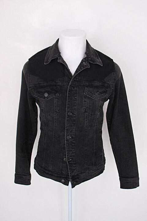 Jaqueta zara jeans feminino cinza escuro_foto principal