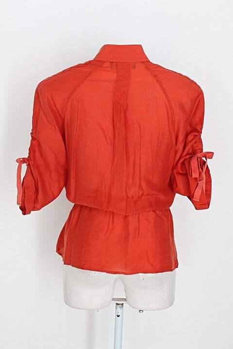 Camisa jones new york feminina laranja_foto de costas