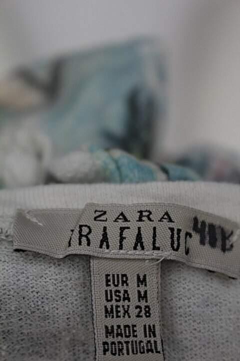 Blusa zara feminina estampa coqueiros_foto de detalhe