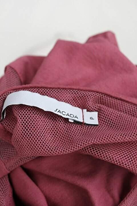 Blusa sacada feminina rosa goiaba _foto de detalhe