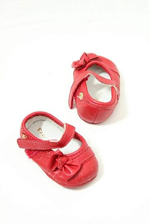 Sapato Vermelho com Lacinho Pampili_foto de frente