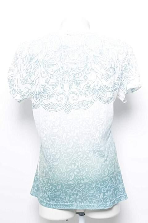 Camiseta Siberian Estampa Floral Azul _foto de frente