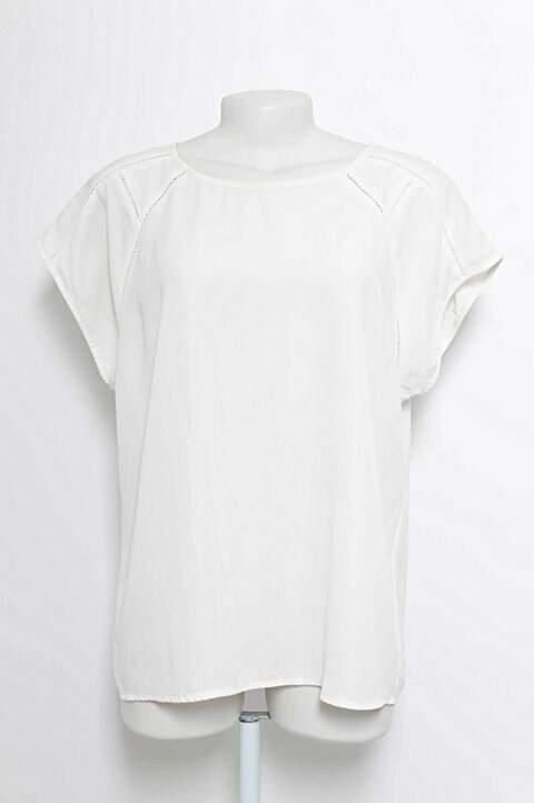 Blusa Crepe Branca Forever 21_foto principal