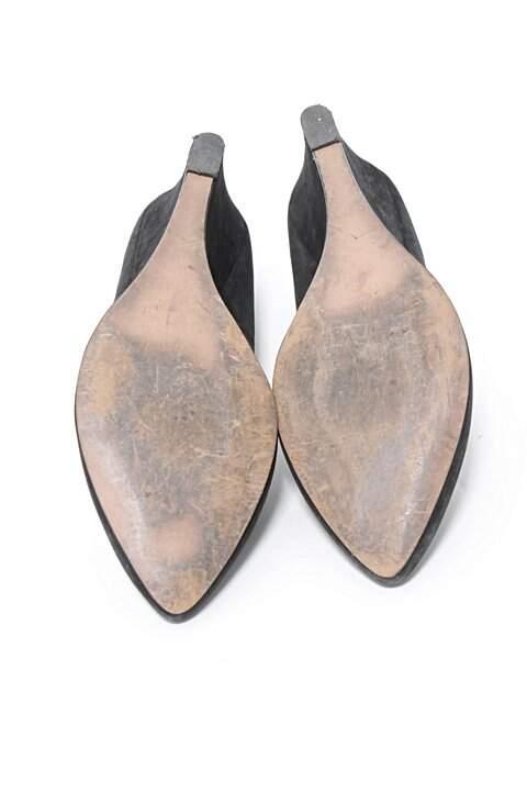 Sapato Preto de Salto Santa Lolla_foto de costas