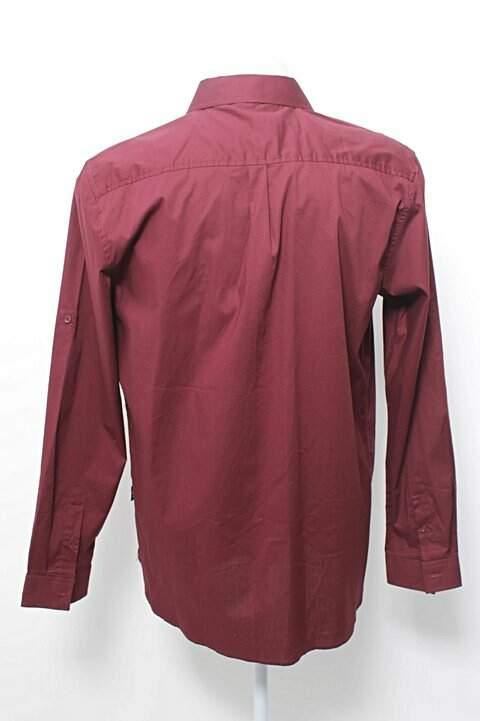 Camisa Masculina Vinho_foto de frente