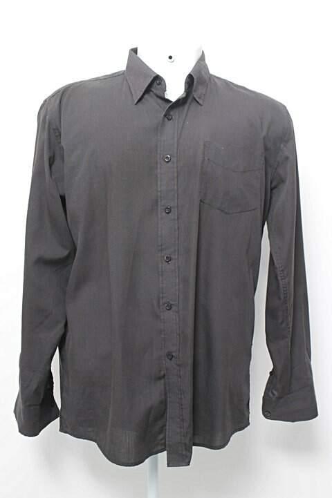 Camisa Masculina Preta Casual Basic_foto principal