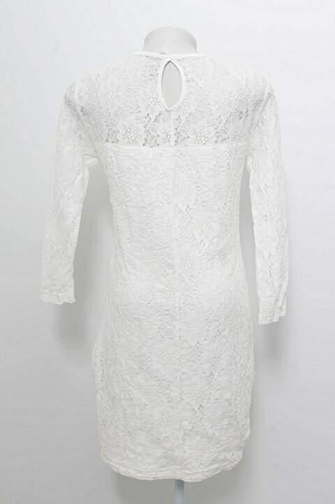 Vestido Pink & Co Renda Off-white _foto de frente