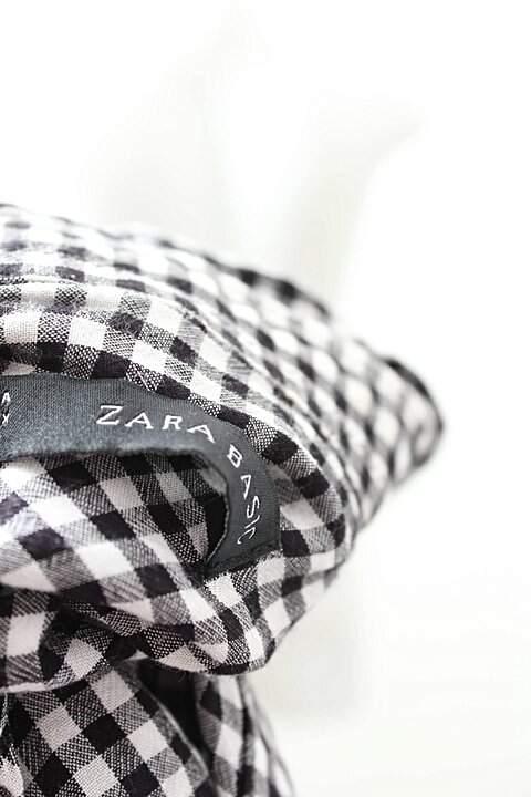 Camisa Zara Vichy Preto _foto de costas