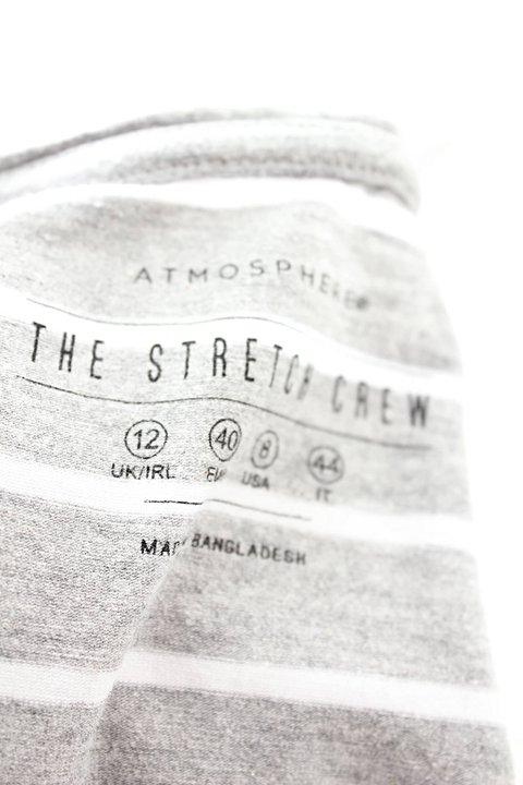 Camiseta Listrada Cinza Atmosphere_foto de costas