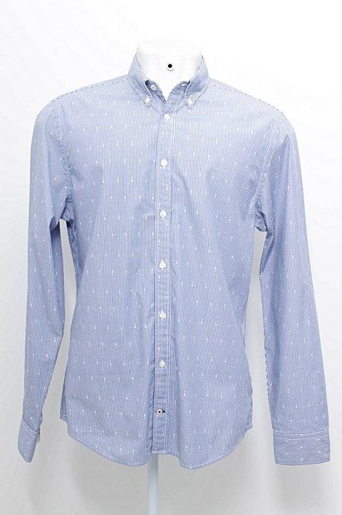 Camisa Azul Listras Branca Tommy Hilfiger  _foto principal