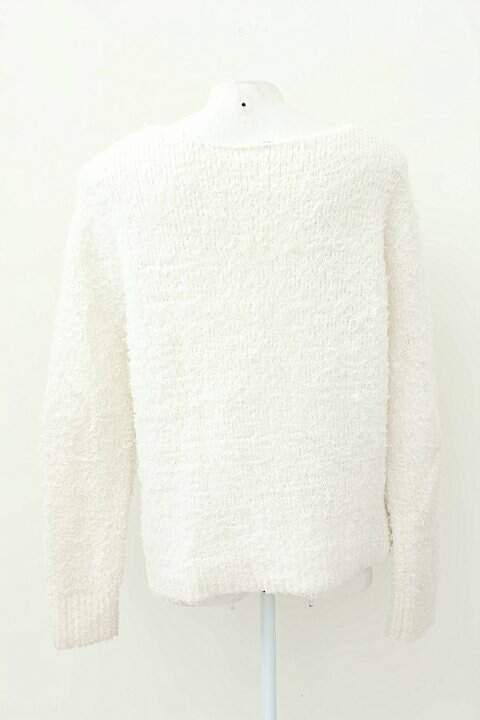 Blusa De Malha Creme H&M_foto de frente