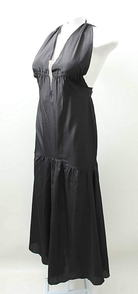 Vestido Longo frente Unica Preto _foto de frente