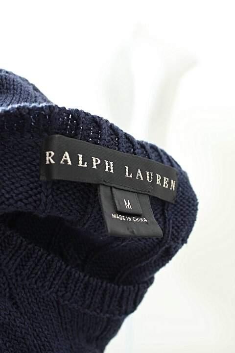 Vestido De Tricot Azul Ralph Lauren _foto de costas