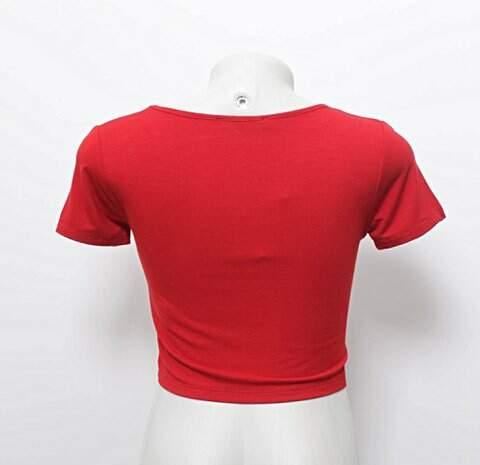 Blusa Cropped Forever 21 Vermelho _foto de frente