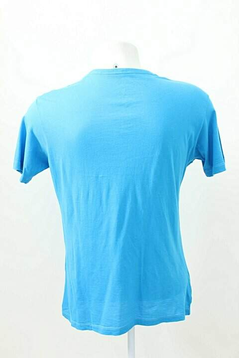 Camiseta Lust For Life Azul Dedo Do Meio _foto de frente