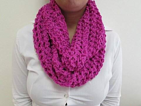 Cachecol de Crochê Pink _