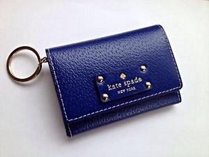 Bolsa Carteira Kate Space NWT Azul Marinho_foto de frente