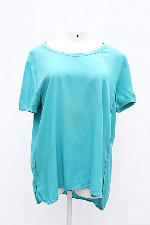 Camiseta Feminina Basica Azul Hering - compre por menos  300c1e51300