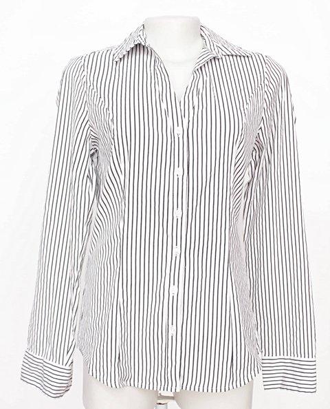 e0a3a388ac Camisa Listrada Branca E Preta Express - compre por menos