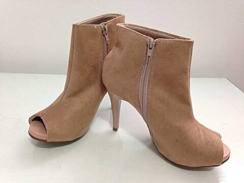 Sapato Ancle Boot Bege_