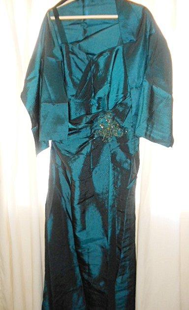 Vestido de Festa Verde Escuro_foto de costas