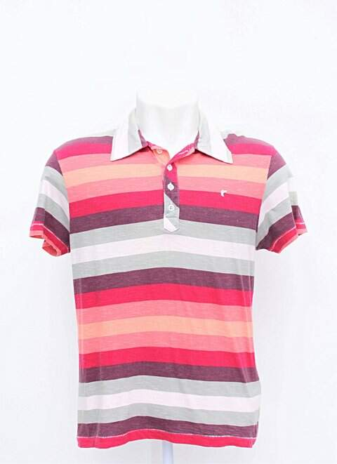 5db9401bba Camisa Polo Listras Coloridas Redley - compre por menos