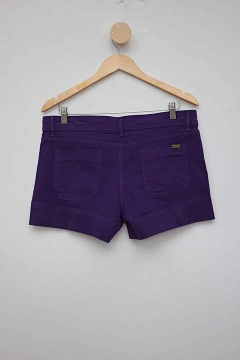 Shorts roxo zara_foto de costas